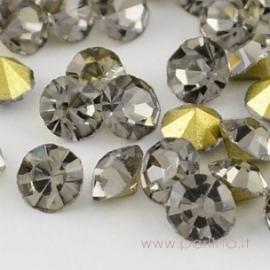 Stiklo akutė, black diamond, SS8.5, 10 vnt