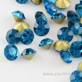 Stiklo akutė, Blue Zircon, SS7, 10 vnt