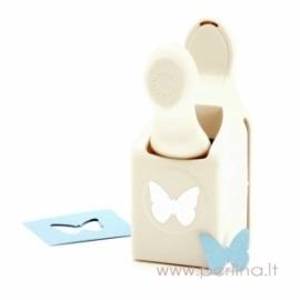 "Dekoratyvinis skylamušis ""Classic Butterfly"", 2x2,6 cm"