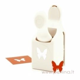 """Dek. skylamušis """"Glassene Butterfly"""", 2,1x2,2 cm"""
