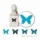 "Dek. skylamušis su antspaudukais ""Stamp & Punch Pack Butterfly"", 2,5x1,8 cm"