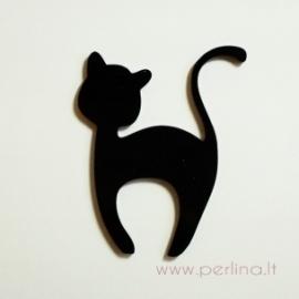"Org. stiklo detalė ""Katinėlis 1"", 6x4,7 cm, 1 vnt"