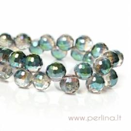 Glass bead, light green AB, 8 mm, 1 pc