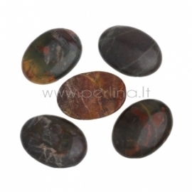 Natural fossil cabochon, 40x30 mm