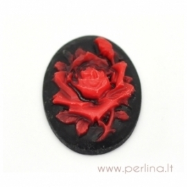 "Resin cameo ""Rose"", 29x22 mm"