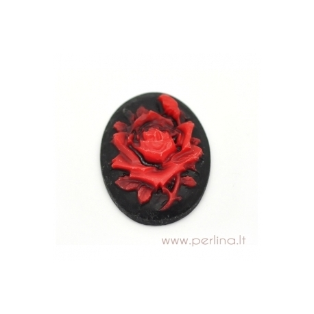"Akrilinė kamėja ""Rose"", 29x22 mm"