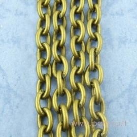 Grandinėlė, ant. bronzos sp., 3x4 mm, 10 cm