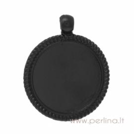 Copper pendant - frame, black, 4,6x3,8 cm