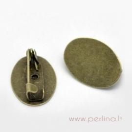 Pagrindas segei, ant. bronzos sp., 17x12 mm
