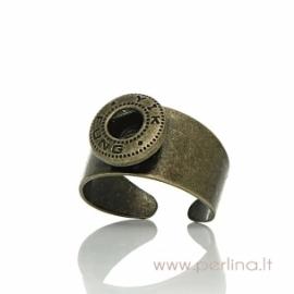 NOOSA stiliaus žiedas, ant bronzos sp., 17,5 mm