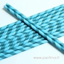 Popierinis šiaudelis, dryžuotas, mėlyna-žydra sp., 1vnt