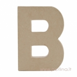 Kartoninė raidė B, 20x14,5x2,5 cm