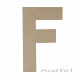 Kartoninė raidė F, 20x14,5x2,5 cm