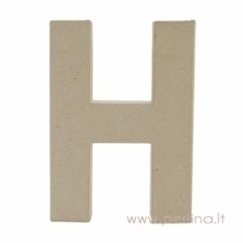 Kartoninė raidė H, 20x14,5x2,5 cm