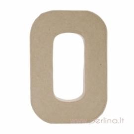 Kartoninė raidė O, 20x14,5x2,5 cm