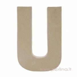 Kartoninė raidė U, 20x14,5x2,5 cm