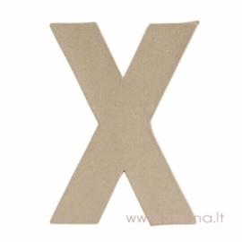 Kartoninė raidė X, 20x14,5x2,5 cm