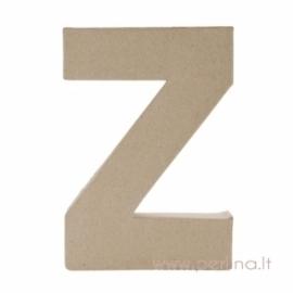 Kartoninė raidė Z, 20x14,5x2,5 cm