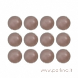 "Dek.vinukai ""Pearl Brads - Chocolate"", 12 mm, 12 vnt."