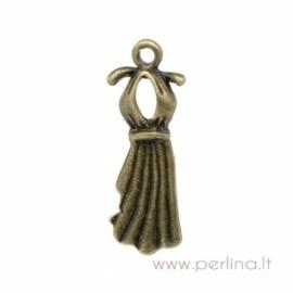 """Pakabukas """"Suknelė"""", ant. bronzos sp., 22x10 mm"""
