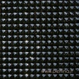 """Žėrinčių kristalų lipnus lapas """"Black"""", 27x53 cm"""