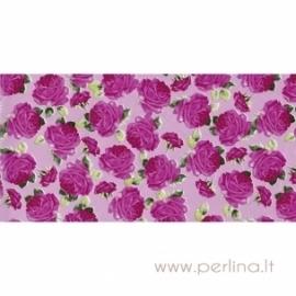 "Plonas dekoravimo popierius ""Pink roses"", 30x40 cm, 3 vnt."