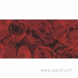 "Plonas dekoravimo popierius ""Red roses"", 30x40 cm, 3 vnt."