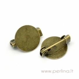 Pagrindas segei, ant. bronzos sp., 15x12 mm