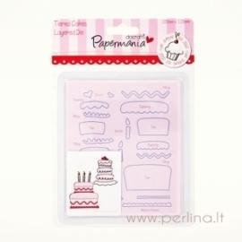 """Kirtimo formelės """"Tiered Cakes"""", 10x12 cm"""