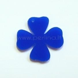 """Org. stiklo detalė-pakabukas """"Gėlytė 3"""", mėlynas, 3,1x3 cm"""