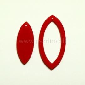 """Org. stiklo detalė-pakabukas """"Lašas"""", raudonas, 4x2 cm"""