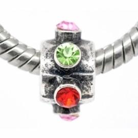 Pandora karoliukas su kristalais, 12x7 mm