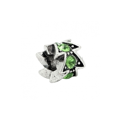 """Pandora karoliukas """"Zigzagas"""", su kristalais, 12x10 mm"""