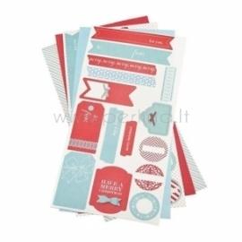 """Lipnūs popieriaus lapai """"Shape 'n Tape Washi Sheets"""", 15,24x30,5 cm, 5 vnt"""