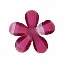 Akrilinė gėlytė, briaunuota, t. violetinė, 12x12 mm