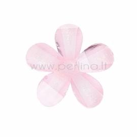 Akrilinė gėlytė, briaunuota, rožinė, 12x12 mm