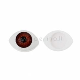 Plastikinės akys, rudos sp., 16x11 mm, 2 vnt.