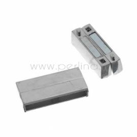 Užsegimas magnetinis, sidabro sp., 37x19 mm
