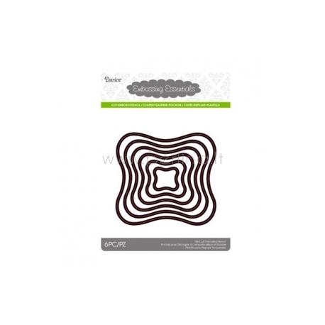 "Kirtimo formelės ""Die cut stencil wavy square"", 105x97 mm, 6 vnt."