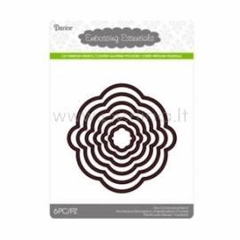 """Kirtimo formelės """"Die cut stencil circle"""", 103x103 mm, 6 vnt."""