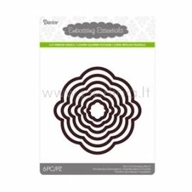 Die cut stencil circle, 103x103 mm, 6 pc