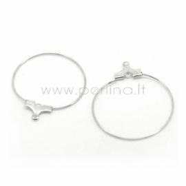 Žiedelis taurės skirtukui / auskaro pakabukas, sidabro sp., 29x26 mm, 1 vnt