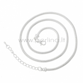 Pandora stiliaus grandinėlė, pasidabruota, 50 cm