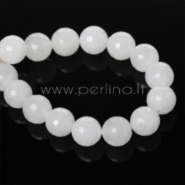 Synthetic marble bead, faceted, 12 mm, 1 pc