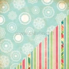 """Popierius """"Doilies/Printed Stripe"""", 30,5x30,5 cm"""