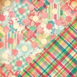 "Popierius ""Hexagon Quilt/Groom's Tie"", 30,5x30,5 cm"