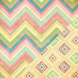"Popierius ""Detailed Chevron/Diamond Ikat"", 30,5x30,5 cm"