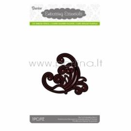 Die cut stencil swirl corner, 80x72 mm, 1 pc