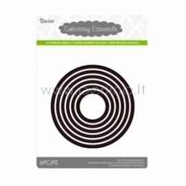 """Kirtimo formelės """"Die cut stencil circles"""", 102x102 mm, 6 vnt."""