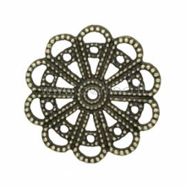 Ažūrinė plokštelė, ant. bronzos sp., 22 mm